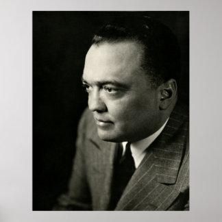 1947 FBI Ditector J. Edgar Hoover Poster