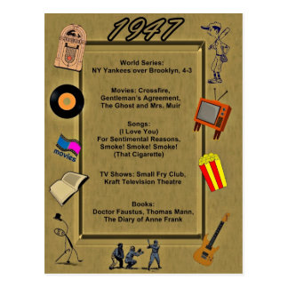 1947 Great Events Birthday Card