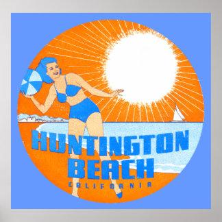 1947 Huntington Beach California Poster