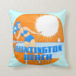 1947 Huntington Beach California Throw Pillow at Zazzle