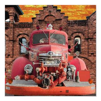 1947 International Fire Truck Design Card
