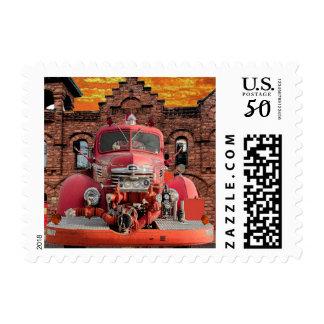 1947 International Fire Truck Design Postage
