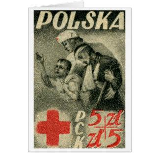 1947 Polish Red Cross Greeting Cards