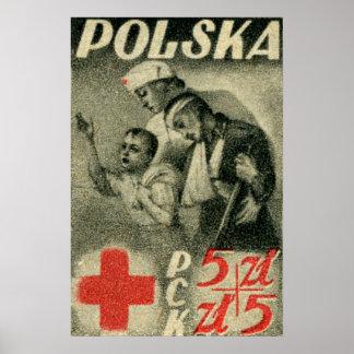 1947 Polish Red Cross Poster