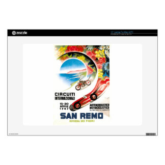 1947 San Remo Grand Prix Race Poster Decal For Laptop