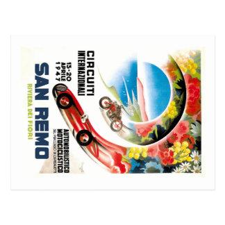 1947 San Remo Grand Prix Race Poster Postcard