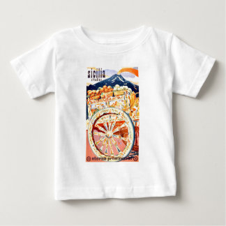 1947 Sicily Italy Travel Poster Eternal Spring Baby T-Shirt