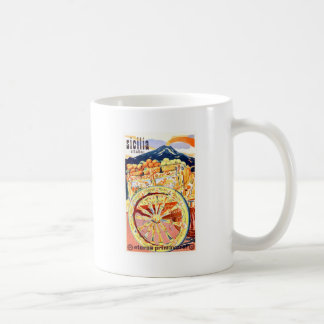 1947 Sicily Italy Travel Poster Eternal Spring Coffee Mug