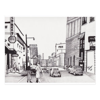 1947 Street Scene by Kevin Dellinger (Postcard)