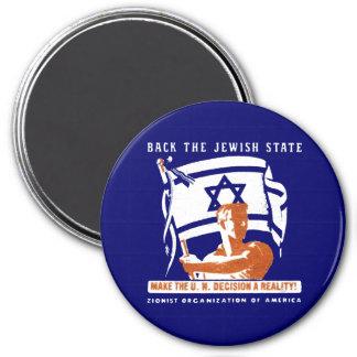 1947 Zionist Poster 3 Inch Round Magnet