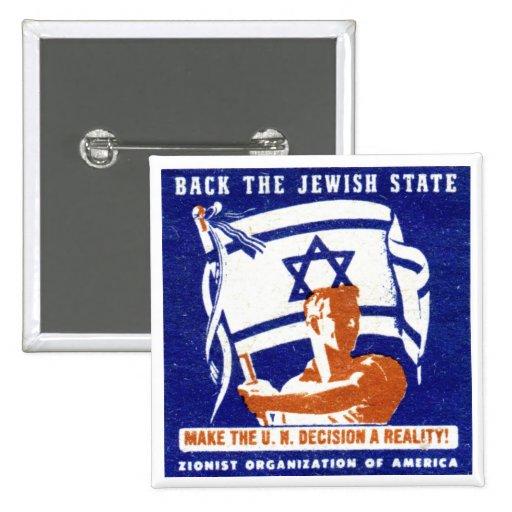 1947 Zionist Poster Button
