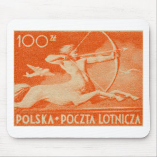 1948 100 zt Polish Airmail Stamp Mouse Pad