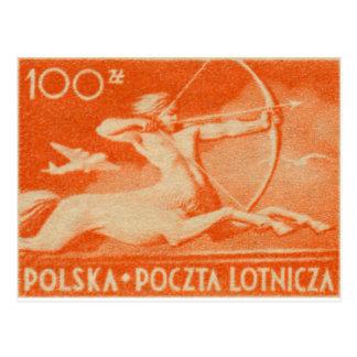 1948 100 zt Polish Airmail Stamp Postcard