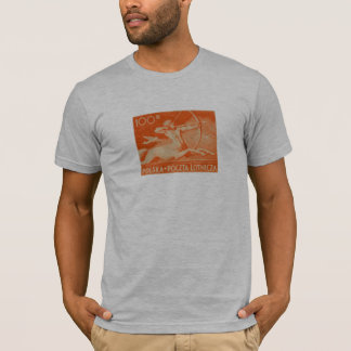 1948 100zt Polish Airmail Stamp T-Shirt