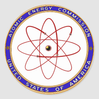 1948 Atomic Energy Commission Vintage Logo Classic Round Sticker
