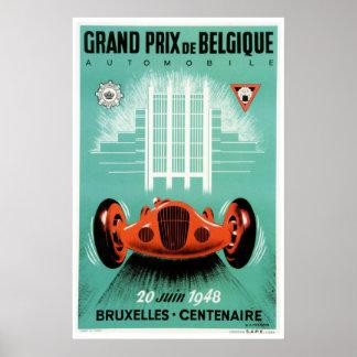 1948 Belgian Grand Prix Poster
