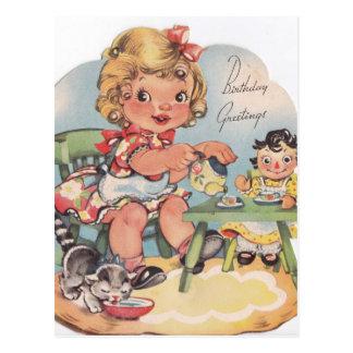1948 Birthday Greetings Postcard
