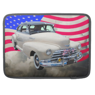 1948 Chevrolet Fleetmaster And American Flag Sleeve For MacBooks