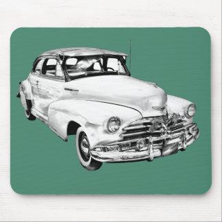 1948 Chevrolet Fleetmaster Car Illustration Mouse Pads