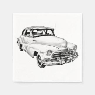 1948 Chevrolet Fleetmaster Car Illustration Paper Napkins