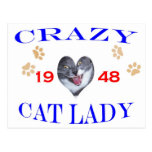1948 Crazy Cat Lady Post Cards