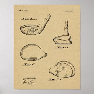 1948 Driver Golf Club Patent Art Drawing Print