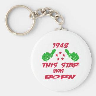 1948 esta estrella nació llavero redondo tipo pin