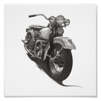 1948 Harley WL Poster