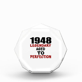 1948 LEGENDARY AGED TO PERFECTION ACRYLIC AWARD
