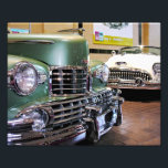 "1948 Lincoln Convertible &amp; !953 Buick Skylark Photo Print<br><div class=""desc"">Vintage antique autos on display at the Saratoga auto museum. A 1948 green Lincoln and a white 1953 Buick Skylark.</div>"