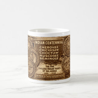 1948 Oklahoma Indian Centennial Stamp Coffee Mug