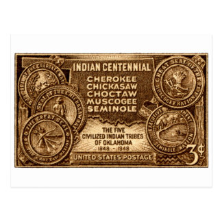 1948 Oklahoma Indian Centennial Stamp Post Cards