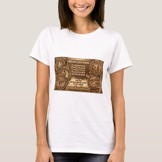 1948 Oklahoma Indian Centennial Stamp T-Shirt