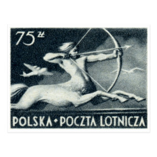 1948 Polish 75z Air Mail Postage Stamp Post Cards