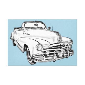 1948 Pontiac Silver Streak Car Illustration Canvas Print