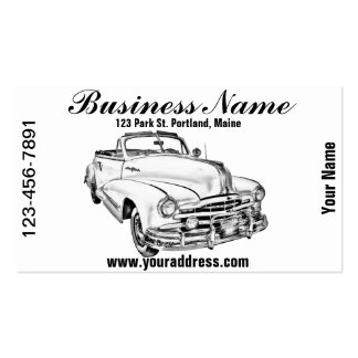 1948 Pontiac Silver Streak Car Illustration Double-Sided Standard Business Cards (Pack Of 100)