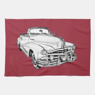 1948 Pontiac Silver Streak Car Illustration Hand Towel