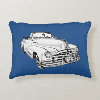 1948 Pontiac Silver Streak Car Illustration Accent Pillow
