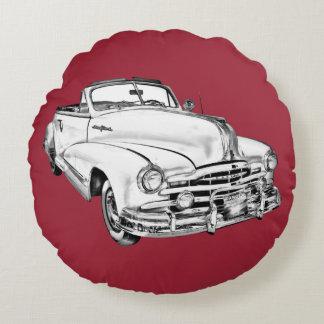1948 Pontiac Silver Streak Car Illustration Round Pillow
