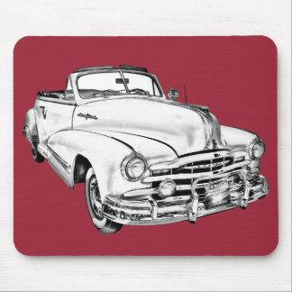 1948 Pontiac Silver Streak Car Illustration Mouse Pads