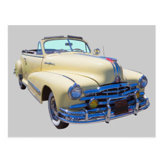 1948 Pontiac Silver Streak Convertible Car Postcard