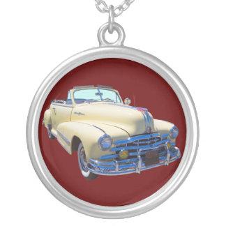 1948 Pontiac Silver Streak Convertible Car Silver Plated Necklace