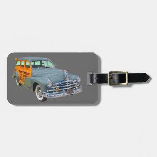 1948 Pontiac Silver Streak Woody Antique Car Bag Tag