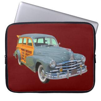 1948 Pontiac Silver Streak Woody Antique Car Computer Sleeve