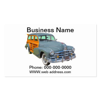 1948 Pontiac Silver Streak Woody Antique Car Double-Sided Standard Business Cards (Pack Of 100)
