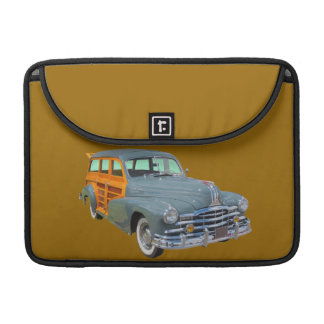 1948 Pontiac Silver Streak Woody Antique Car Sleeve For MacBooks