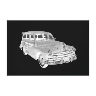 1948 Pontiac Silver Streak Woody Car Art Canvas Print