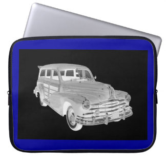 1948 Pontiac Silver Streak Woody Car Art Laptop Sleeve