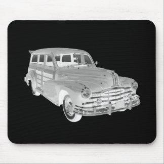 1948 Pontiac Silver Streak Woody Car Art Mouse Pad