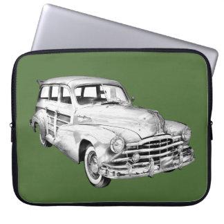 1948 Pontiac Silver Streak Woody Illustration Laptop Sleeve